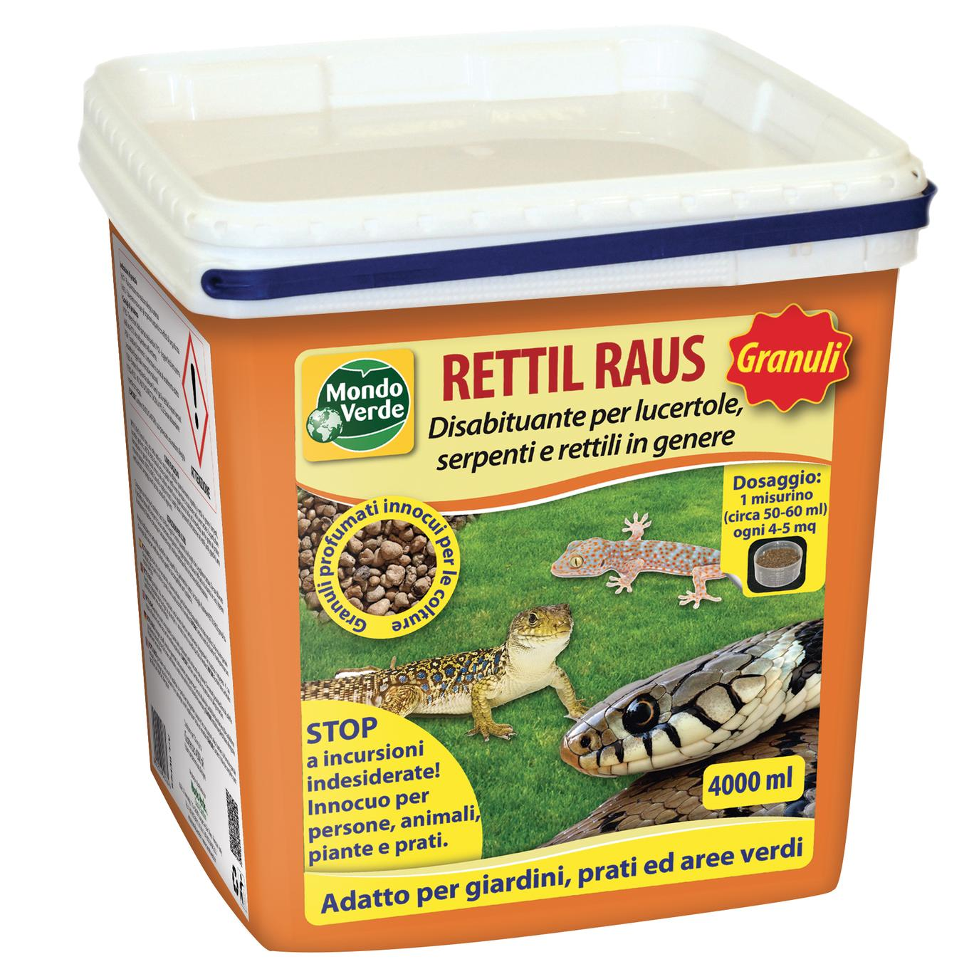 Rettil RAUS repellente-disabituante per serpenti lucertole e rettili in genere 4000ml